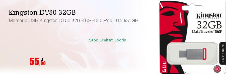 Memorie USB Kingston DT50 32GB USB 3.0 Red DT50/32GB