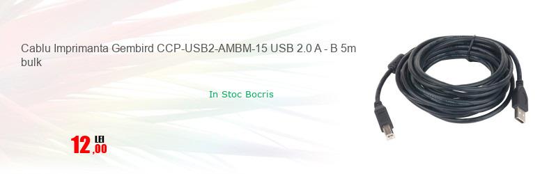 Cablu Imprimanta Gembird CCP-USB2-AMBM-15 USB 2.0 A - B 5m bulk