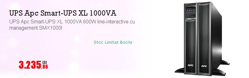 UPS Apc Smart-UPS XL 1000VA 800W line-interactive cu management SMX1000I