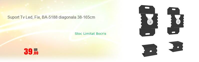 Suport Tv Led, Fix, BA-5188 diagonala 38-165cm