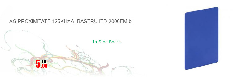 AG PROXIMITATE 125KHz ALBASTRU ITD-2000EM-bl