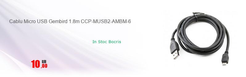 Cablu Micro USB Gembird 1.8m CCP-MUSB2-AMBM-6