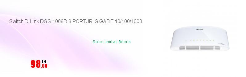 Switch D-Link DGS-1008D 8 PORTURI GIGABIT 10/100/1000