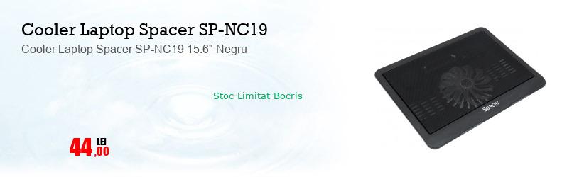 """Cooler Laptop Spacer SP-NC19 15.6"""" Negru"""