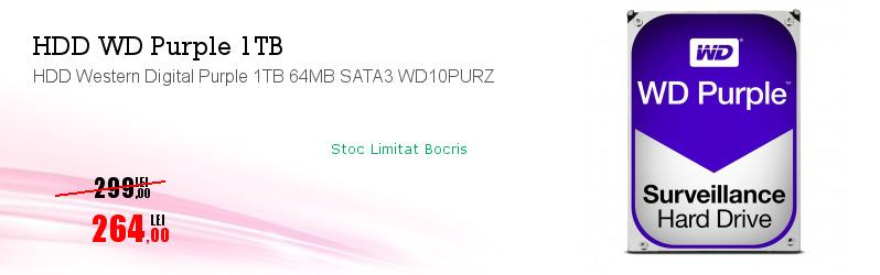 HDD Western Digital Purple 1TB 64MB SATA3 WD10PURZ