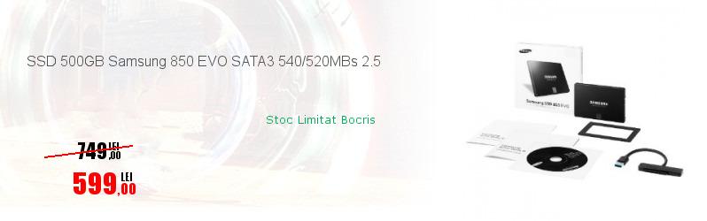 SSD 500GB Samsung 850 EVO SATA3 540/520MBs 2.5