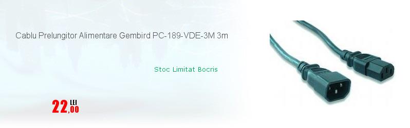 Cablu Prelungitor Alimentare Gembird PC-189-VDE-3M 3m
