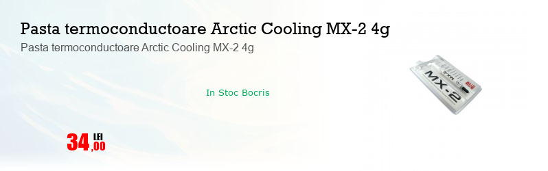 Pasta termoconductoare Arctic Cooling MX-2 4g