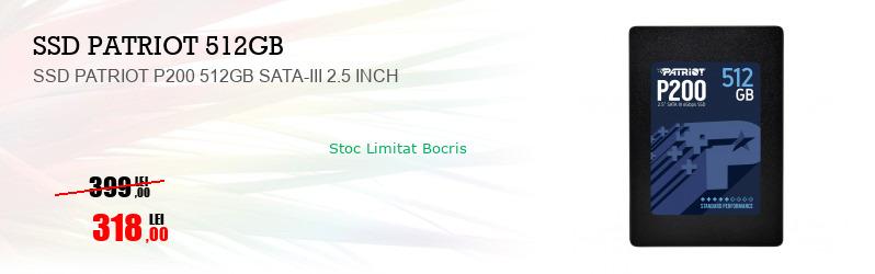 SSD PATRIOT P200 512GB SATA-III 2.5 INCH