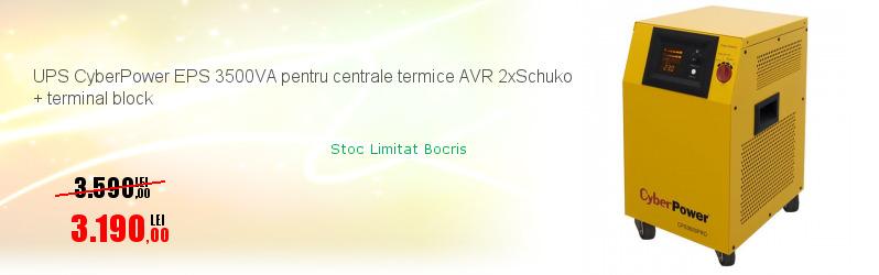 UPS CyberPower EPS 3500VA pentru centrale termice AVR 2xSchuko + terminal block