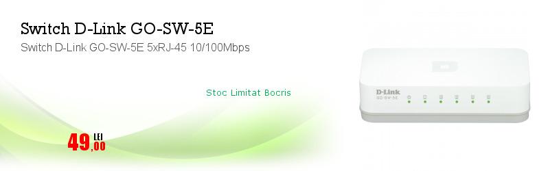 Switch D-Link GO-SW-5E 5xRJ-45 10/100Mbps