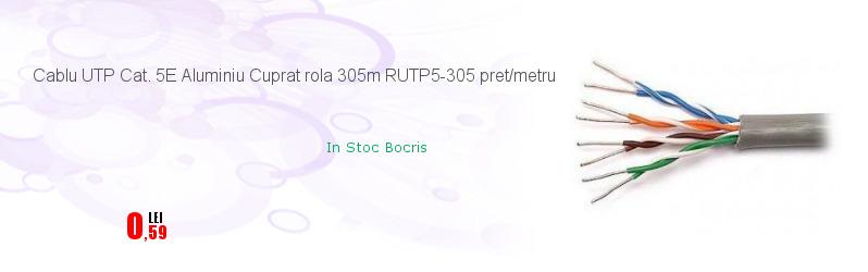 Cablu UTP Cat. 5E Aluminiu Cuprat rola 305m RUTP5-305 pret/metru