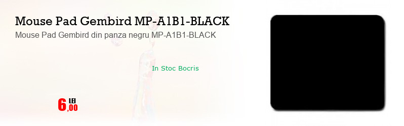 Mouse Pad Gembird din panza negru MP-A1B1-BLACK