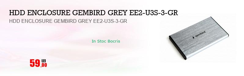 HDD ENCLOSURE GEMBIRD GREY EE2-U3S-3-GR