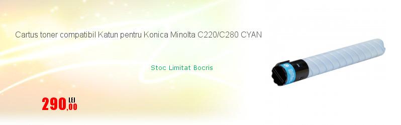 Cartus toner compatibil Katun pentru Konica Minolta C220/C280 CYAN