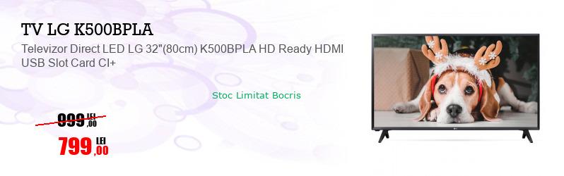 "Televizor Direct LED LG 32""(80cm) K500BPLA HD Ready HDMI USB Slot Card CI+"