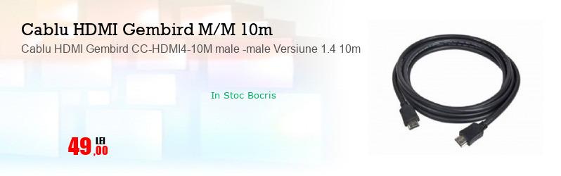 Cablu HDMI Gembird CC-HDMI4-10M male -male Versiune 1.4 10m
