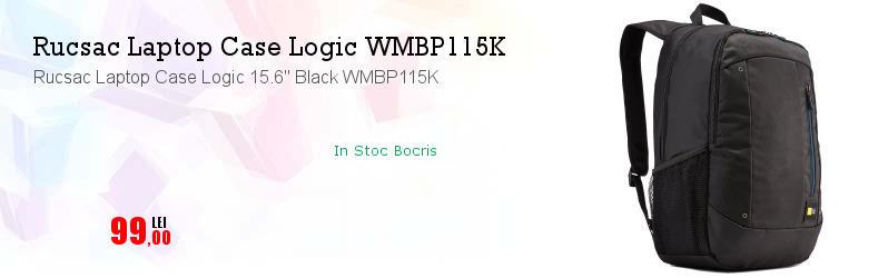 "Rucsac Laptop Case Logic 15.6"" Black WMBP115K"