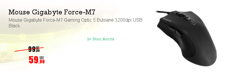 Mouse Gigabyte Force-M7 Gaming Optic 5 Butoane 3200dpi USB Black