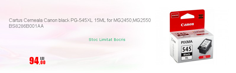 Cartus Cerneala Canon black PG-545XL 15ML for MG2450,MG2550 BS8286B001AA