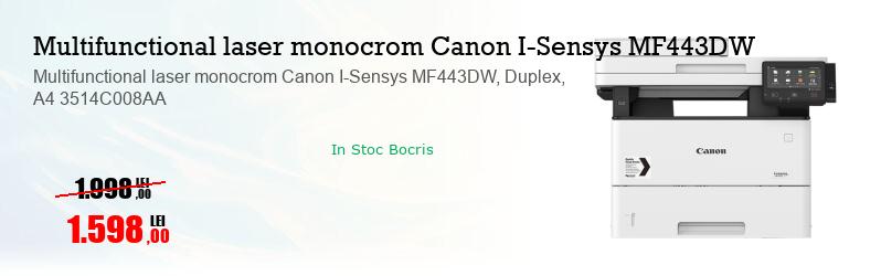 Multifunctional laser monocrom Canon I-Sensys MF443DW, Duplex, A4 3514C008AA