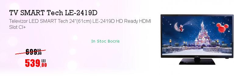 "Televizor LED SMART Tech 24""(61cm) LE-2419D HD Ready HDMI Slot CI+"