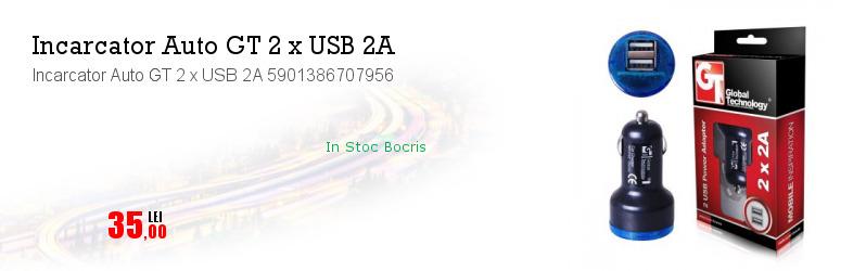 Incarcator Auto GT 2 x USB 2A 5901386707956