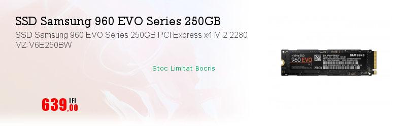 SSD Samsung 960 EVO Series 250GB PCI Express x4 M.2 2280 MZ-V6E250BW