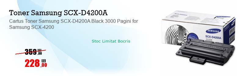 Cartus Toner Samsung SCX-D4200A Black 3000 Pagini for Samsung SCX-4200