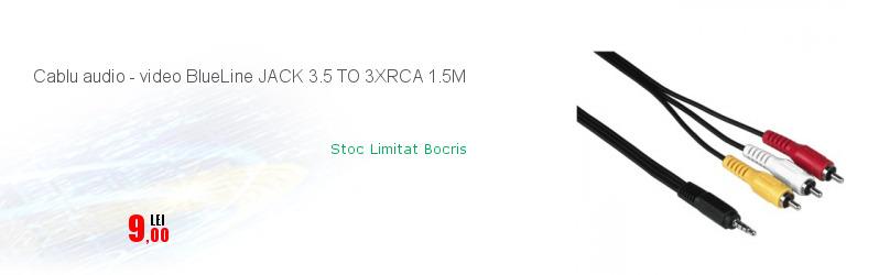Cablu audio - video BlueLine JACK 3.5 TO 3XRCA 1.5M