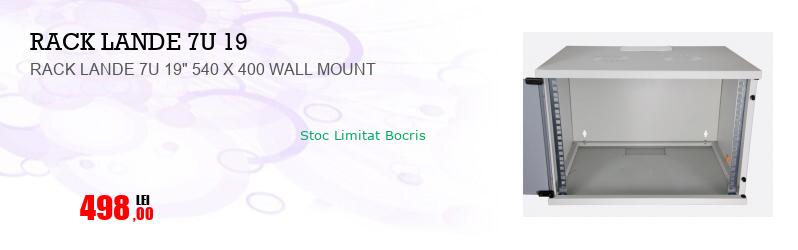 "RACK LANDE 7U 19"" 540 X 400 WALL MOUNT"