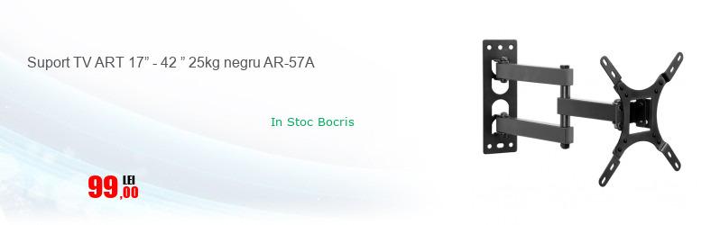 "Suport TV ART 17"" - 42 "" 25kg negru AR-57A"