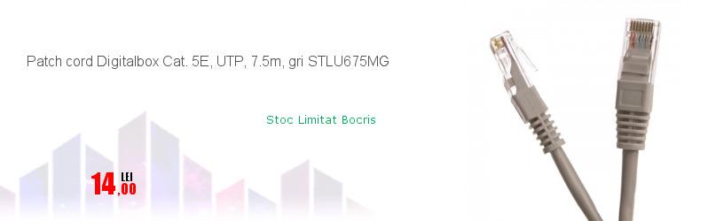 Patch cord Digitalbox Cat. 5E, UTP, 7.5m, gri STLU675MG