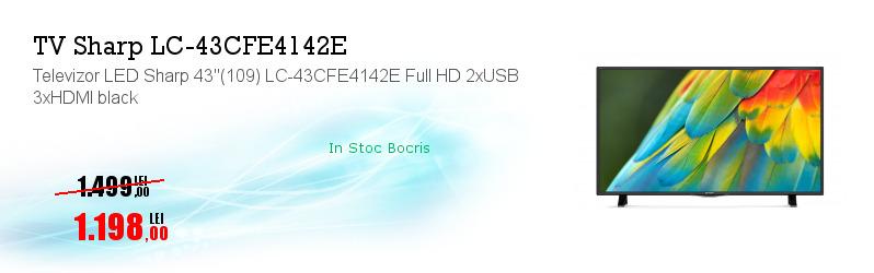 "Televizor LED Sharp 43""(109) LC-43CFE4142E Full HD 2xUSB 3xHDMI black"