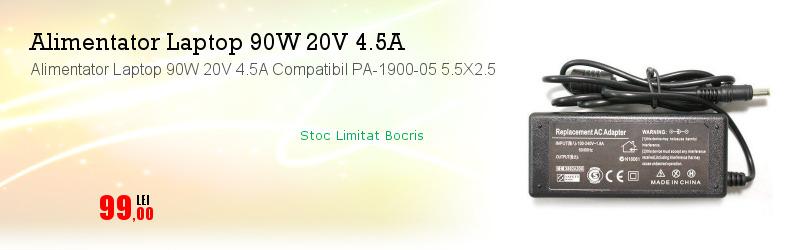 Alimentator Laptop 90W 20V 4.5A Compatibil PA-1900-05 5.5X2.5