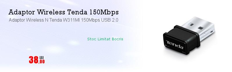 Adaptor Wireless N Tenda W311MI 150Mbps USB 2.0
