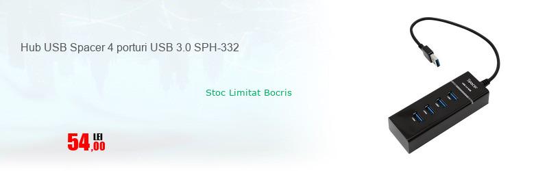 Hub USB Spacer 4 porturi USB 3.0 SPH-332