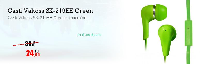 Casti Vakoss SK-219EE Green cu microfon