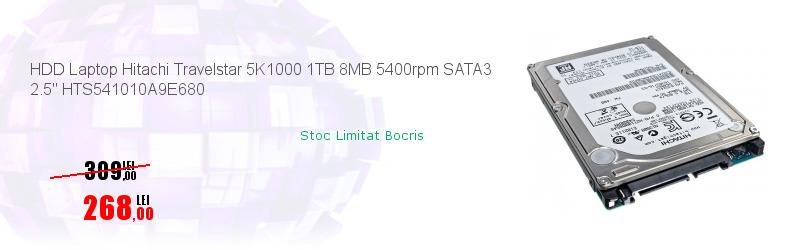 "HDD Laptop Hitachi Travelstar 5K1000 1TB 8MB 5400rpm SATA3 2.5"" HTS541010A9E680"