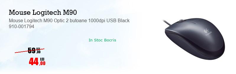 Mouse Logitech M90 Optic 2 butoane 1000dpi USB Black 910-001794