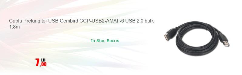 Cablu Prelungitor USB Gembird CCP-USB2-AMAF-6 USB 2.0 bulk 1.8m