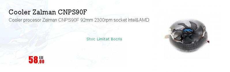 Cooler procesor Zalman CNPS90F 92mm 2300rpm socket Intel&AMD