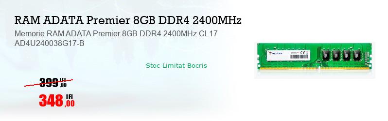 Memorie RAM ADATA Premier 8GB DDR4 2400MHz CL17 AD4U240038G17-B
