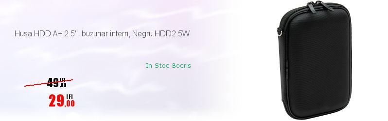 """Husa HDD A+ 2.5"""", buzunar intern, Negru HDD2.5W"""