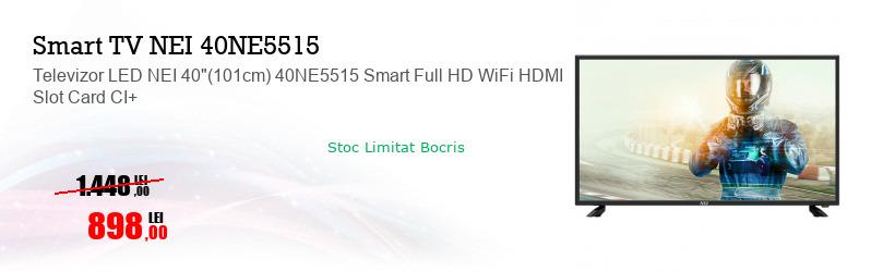 """Televizor LED NEI 40""""(101cm) 40NE5515 Smart Full HD WiFi HDMI Slot Card CI+"""