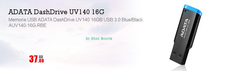 Memorie USB ADATA DashDrive UV140 16GB USB 3.0 Blue/Black AUV140-16G-RBE