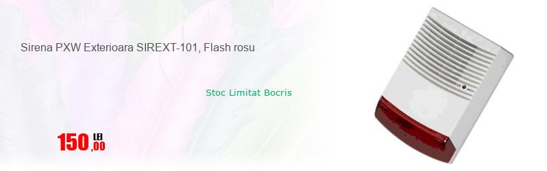 Sirena PXW Exterioara SIREXT-101, Flash rosu