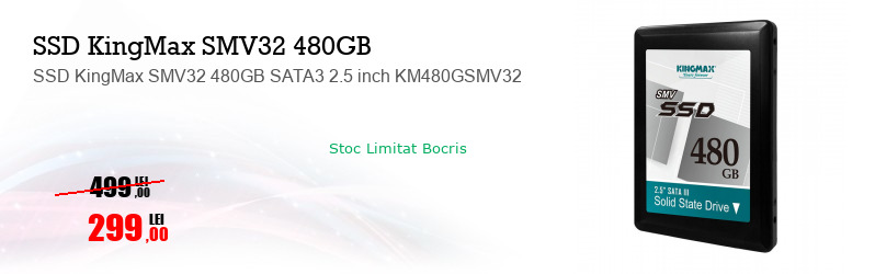 SSD KingMax SMV32 480GB SATA3 2.5 inch KM480GSMV32