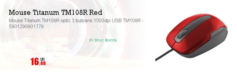 Mouse Titanum TM108R optic 3 butoane 1000dpi USB TM108R - 5901299901779