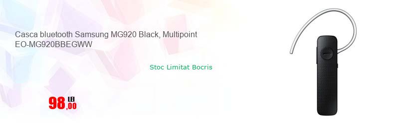 Casca bluetooth Samsung MG920 Black, Multipoint EO-MG920BBEGWW